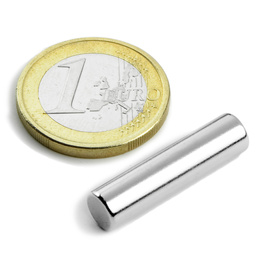 Stabmagnet Ø 6,35 mm H 25,4 mm