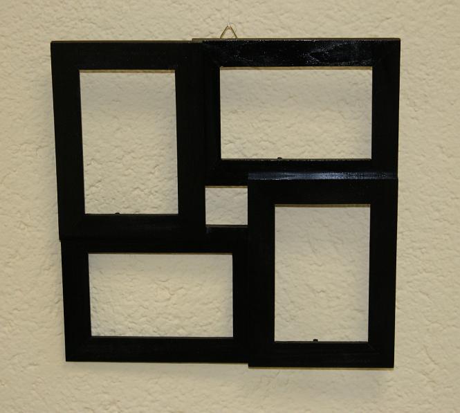 4er Bilderrahmen quadratisch, farbig